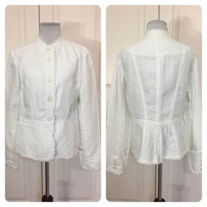 Michael Michael Kors white linen jacket
